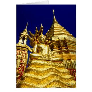 Golden Temple - Chiang Mai - Thailand Card