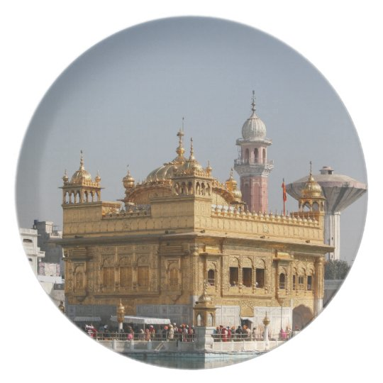 Golden Temple Harmandir Sahib Amritsar North India Dinner Plate
