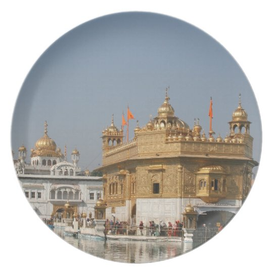 Golden Temple Harmandir Sahib Amritsar North India Plate