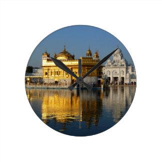 Golden Temple Round Clock