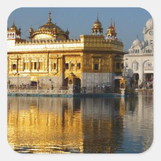 Golden Temple Square Sticker