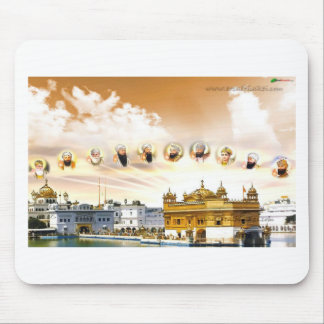 GOLDEN TEMPLE WITH THE SIKH GURUS MOUSE PAD