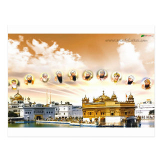 GOLDEN TEMPLE WITH THE SIKH GURUS POSTCARD