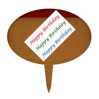 Golden Text HappyBirthday Cake Topper
