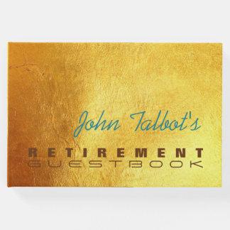 Golden Texture 2 Custom Retirement Guest Book