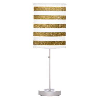 golden texture stripes classy decor desk lamp
