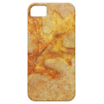 Golden Textured Leaf iPhone 5 Covers