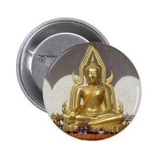 Golden Thai Buddha Button