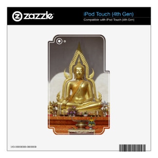 Golden Thai Buddha Decals For iPod Touch 4G