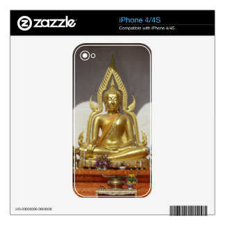 Golden Thai Buddha Decals For The iPhone 4S
