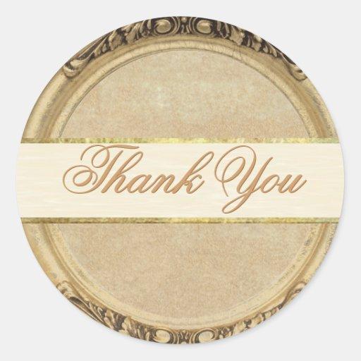 Golden Thank You Sticker/Seal