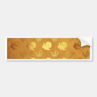 Golden Thanksgiving with Turkey Bumper Sticker