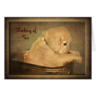 Golden Thoughts Greeting Card