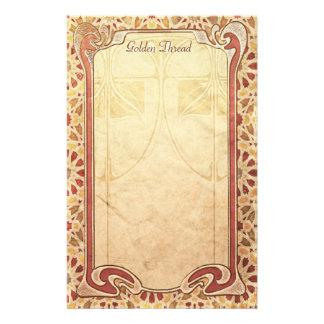Golden Thread - Art Nouveau Stationery