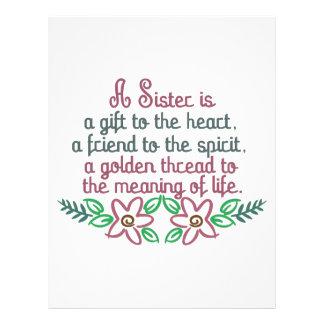 Golden Thread Sister Letterhead