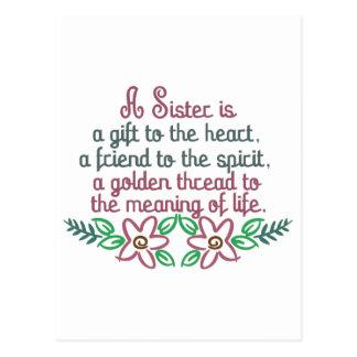 Golden Thread Sister Postcard