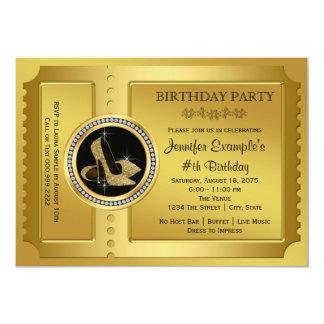 Golden Ticket Birthday Party Card