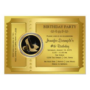 Golden ticket invitations announcements zazzle golden ticket birthday party invitation filmwisefo