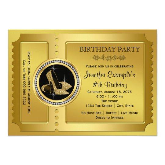 Golden ticket birthday party invitation zazzle golden ticket birthday party invitation filmwisefo
