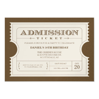 Golden Ticket Invitations Announcements Zazzle