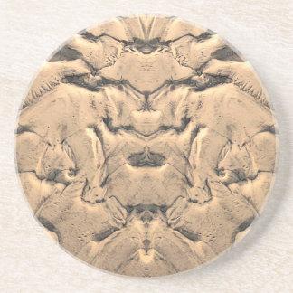 Golden Tidal Sands Sandstone Coaster