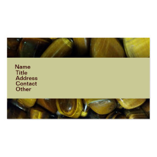 Golden Tiger Eye Stones Business Cards