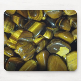 Golden Tiger Eye Stones Mouse Pad