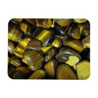 Golden Tiger Eye Stones Rectangle Magnets