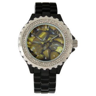 Golden Tiger Eye Stones Wrist Watches