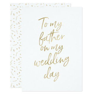 "Golden ""To my father on my wedding day"" Card"
