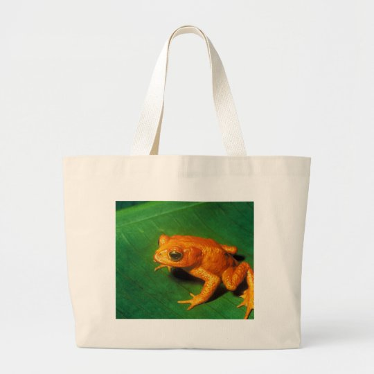 Golden Toad Large Tote Bag