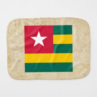 Golden Togo Flag Burp Cloths