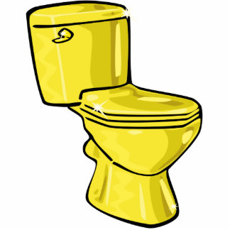 Golden Toilet Sculpture Ornament