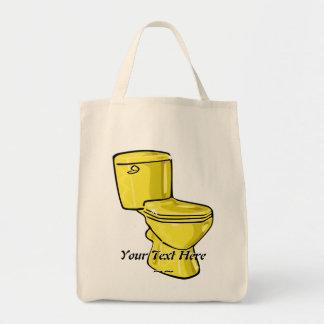 Golden Toilet Tote Bag