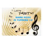Golden Tone - Birthday Party Invitation