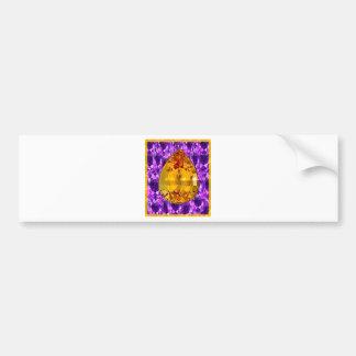 Golden Topaz Amethyst Gems Art Bumper Sticker