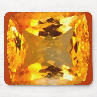 Golden Topaz Gem Design by Sharles Mouse Pad