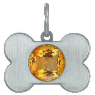Golden Topaz Gem Design by Sharles Pet Name Tag