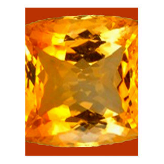 Golden Topaz Gem Design by Sharles Postcard