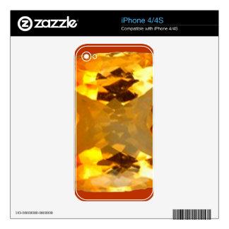 Golden Topaz Gem Design by Sharles Skin For iPhone 4S
