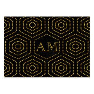 golden tortoise shell large business card