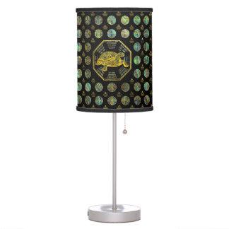 Golden Tortoise / Turtle Feng Shui Abalone Shell Table Lamp