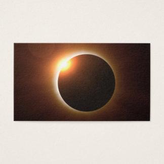 Golden Total Solar Eclipse Business Card