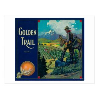 Golden Trail Orange Label #2Success, CA Postcard
