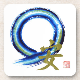 Golden Tranquility - Enso Beverage Coaster