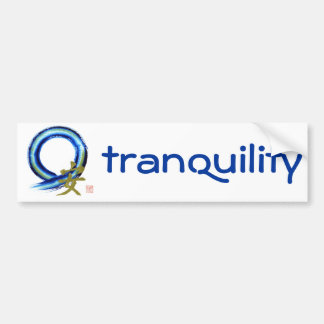 Golden Tranquility - Enso Bumper Sticker