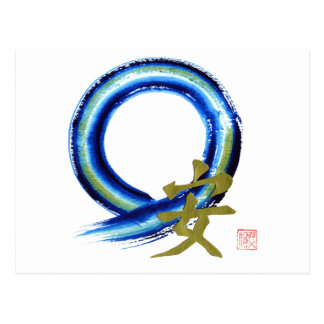 Golden Tranquility - Enso Postcard