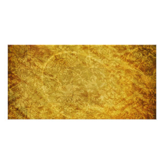 GOLDEN TREASURE GRUNGE FLORAL BACKGROUNDS TEMPLATE