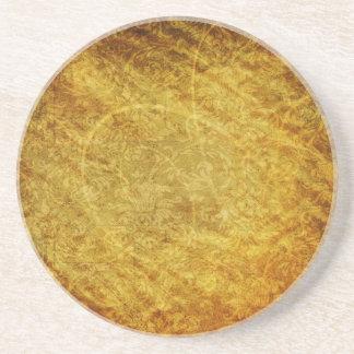 GOLDEN TREASURE GRUNGE FLORAL BACKGROUNDS TEMPLATE COASTER