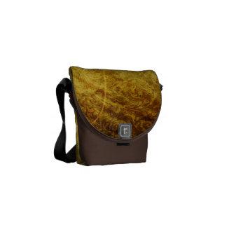 GOLDEN TREASURE GRUNGE FLORAL BACKGROUNDS TEMPLATE MESSENGER BAG